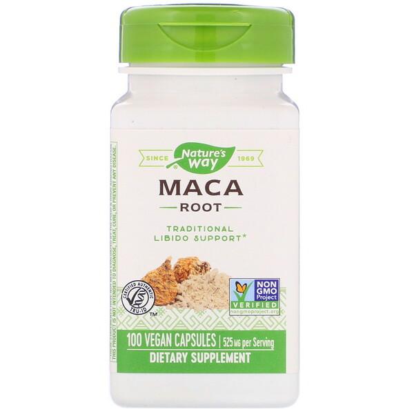 Корень маки, 525 мг, 100 растительных капсул