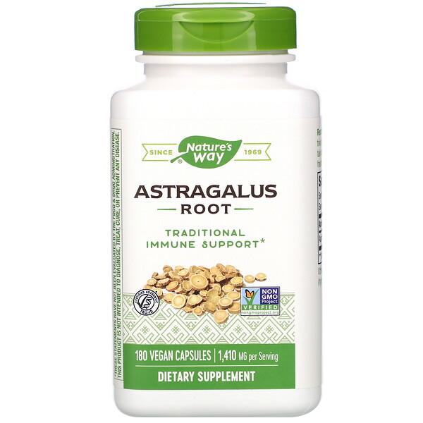 Корень астрагала, 470 мг, 180 вегетарианских капсул