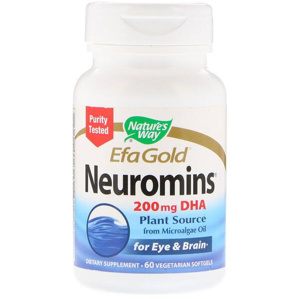 EFA Gold, Neuromins, ДГК, 60 вегетарианских жидких гелевых капсул