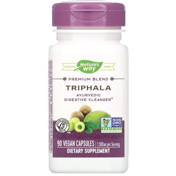Premium Blend, Triphala, 90 Vegan Capsules