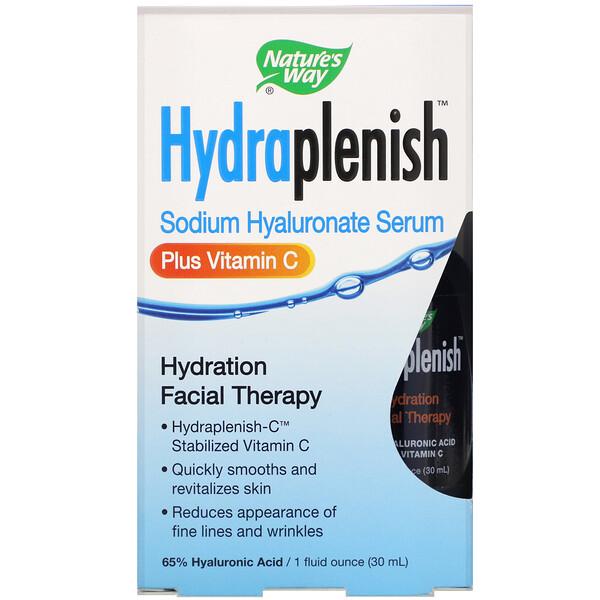 Nature's Way, Hydraplenish, сыворотка с гиалуронатом натрия, витаминC, 30мл (1 жидк.унция)