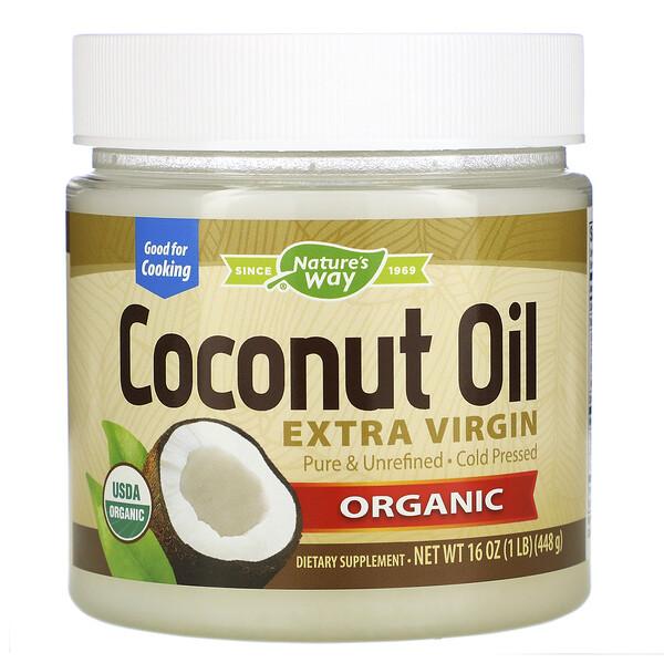 Nature's Way, Органическое кокосовое масло, холодного отжима, 448 г