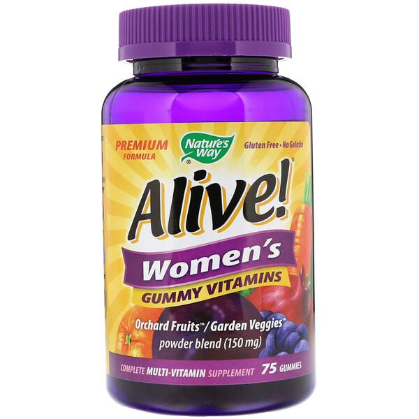 Alive! Женские жевательные витамины, 75 жевательных мармеладок