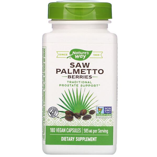 Ягоды пальмы сереноа, 585 мг, 180 вегетарианских капсул