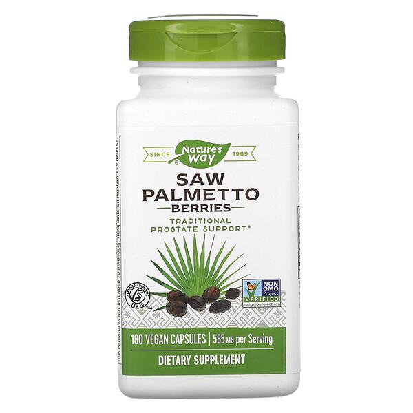 Nature's Way, Ягоды пальмы сереноа, 585 мг, 180 вегетарианских капсул