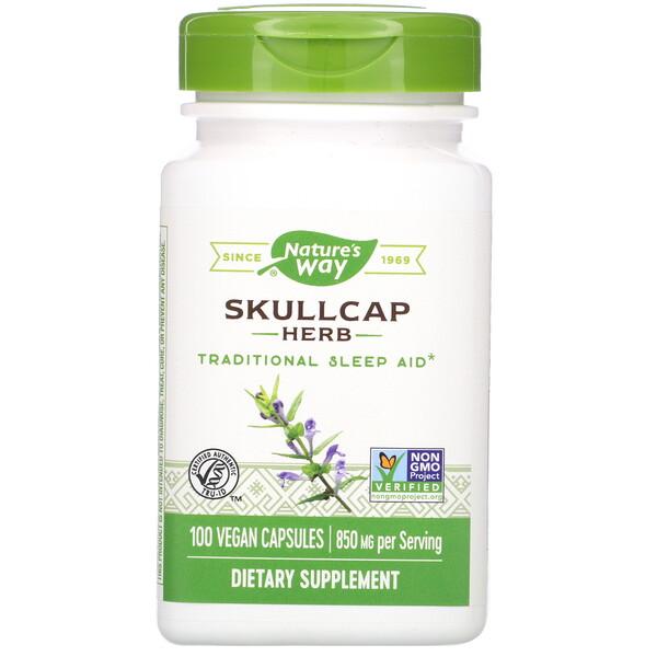 Skullcap Herb, 850 mg, 100 Vegan Capsules