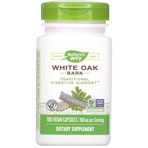 White Oak Bark, 960 mg, 100 Vegan Capsules