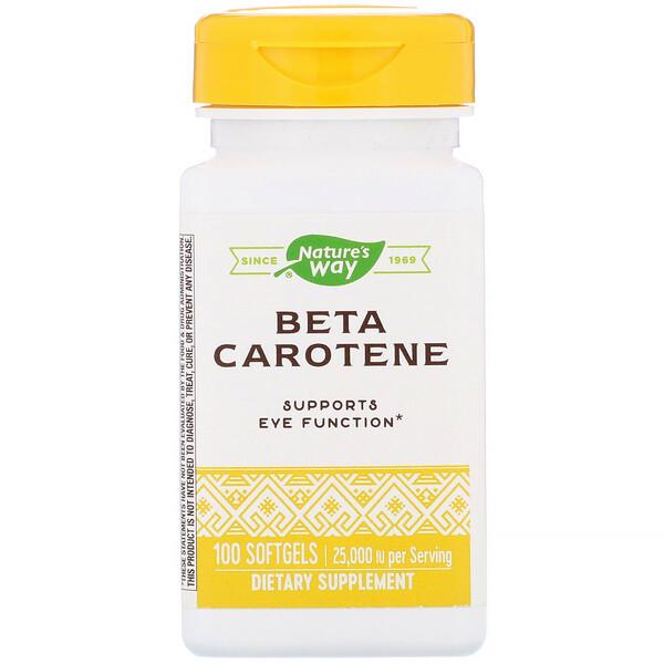Beta Carotene, 25,000 IU, 100 Softgels