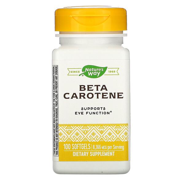 Nature's Way, Beta Carotene, 8,336 Mcg, 100 Softgels