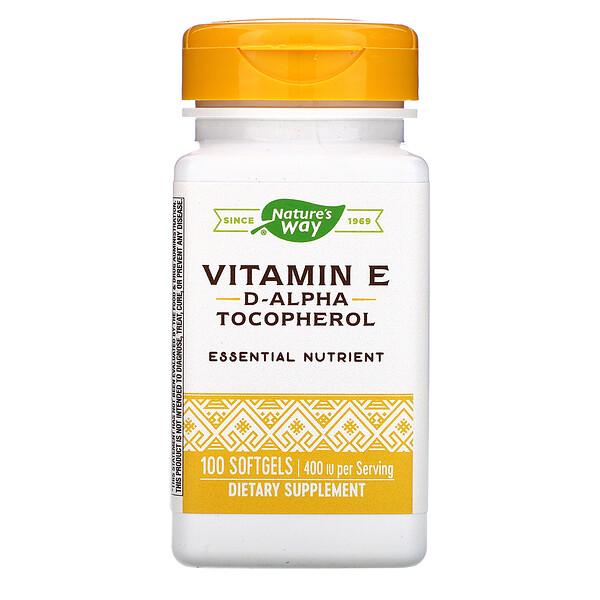 Vitamin E, 400 IU, 100 Softgels