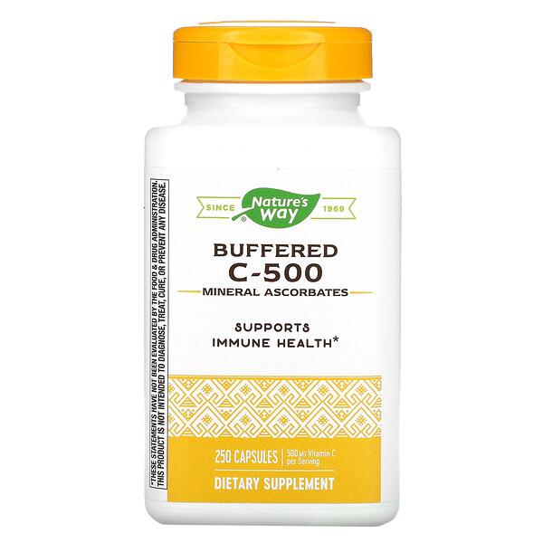 Buffered C-500, 500 mg, 250 Capsules