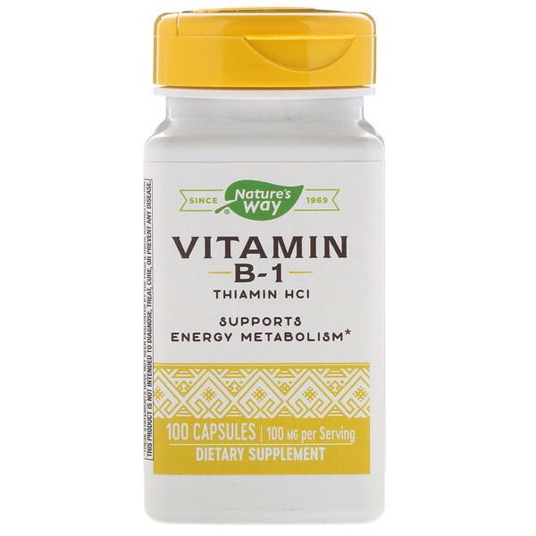 Витамин В1, 100 мг, 100 капсул