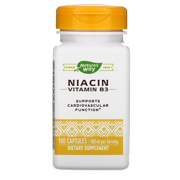Niacin, Vitamin B3, 100 mg, 100 Capsules