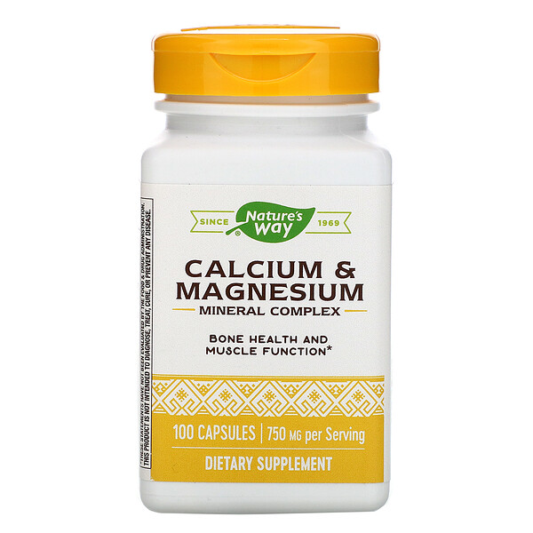 Calcium & Magnesium Mineral Complex, 750 mg, 100 Capsules
