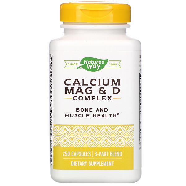 Nature's Way, Комплекс с кальцием, магнием и витамином D, 250 капсул