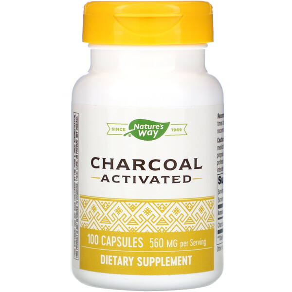 Charcoal Activated, 560 mg, 100 Capsules