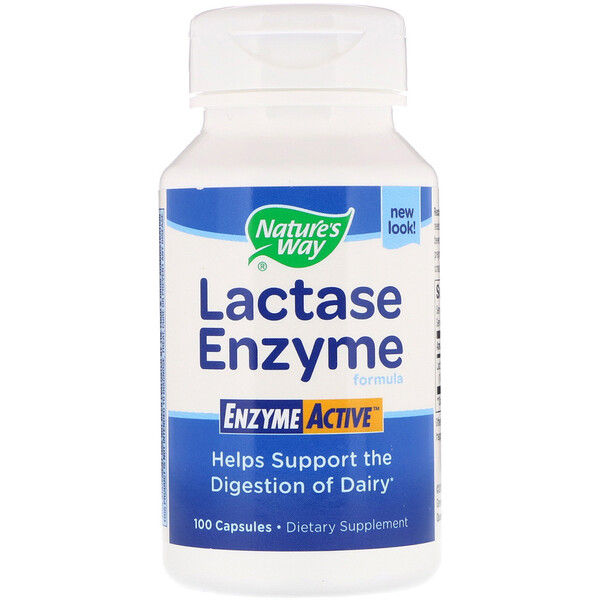 Nature's Way, Lactase Enzyme Formula, 100 капсул