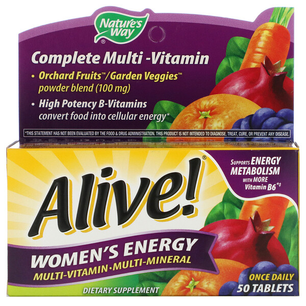 Alive! Women's Energy, Multivitamin-Multimineral, 50 Tablets