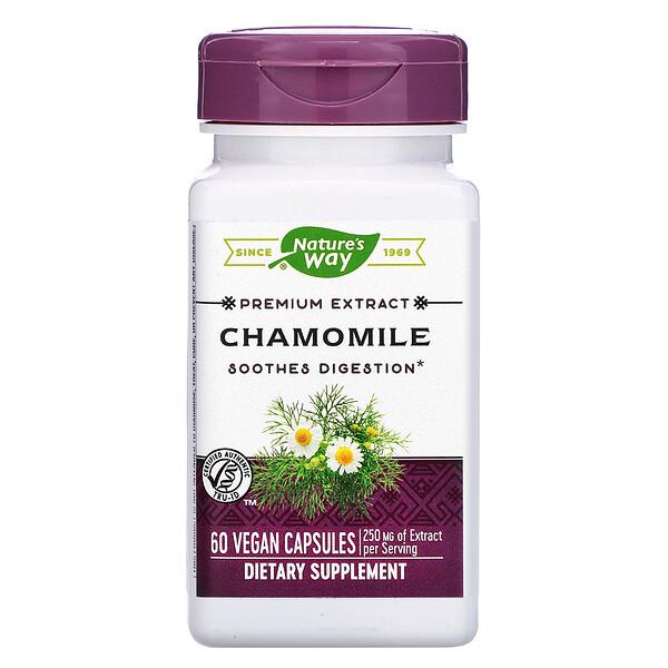 Chamomile, 250 mg, 60 Vegan Capsules