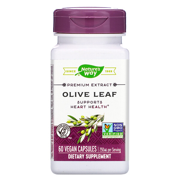 Premium Extract, Olive Leaf, 250 mg, 60 Vegan Capsules
