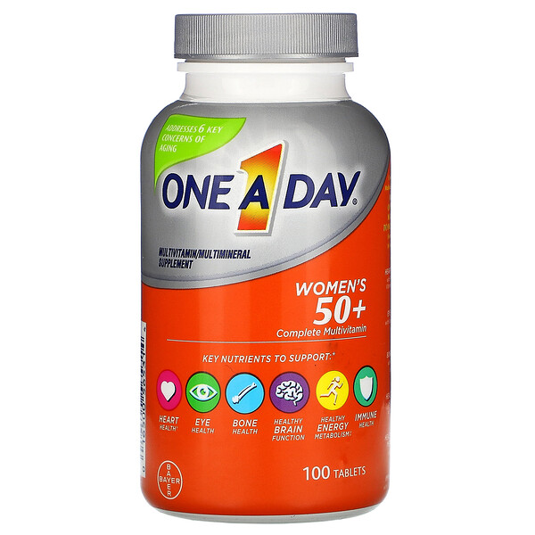 One-A-Day, Women's 50+, Complete Multivitamin, 100 Tablets