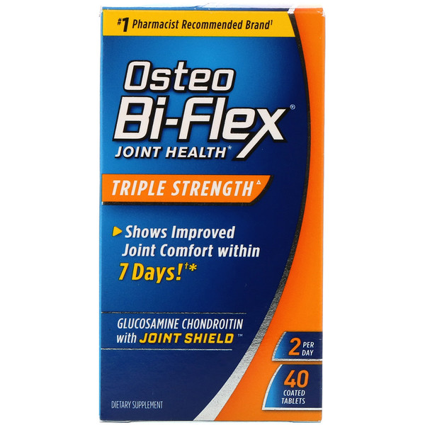 Здоровье суставов, тройная сила, 40 таблеток в оболочке