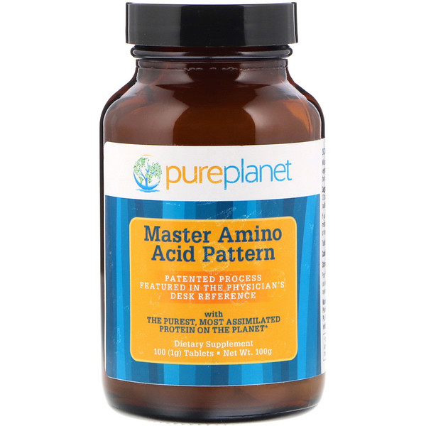 Master Amino Acid Pattern, смесь главных аминокислот, 1000мг, 100таблеток