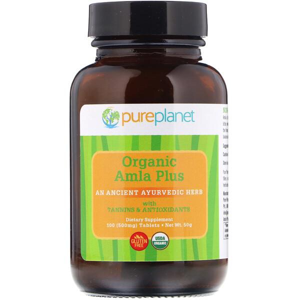 Органический, Amla Plus, 500 мг, 100 таблеток