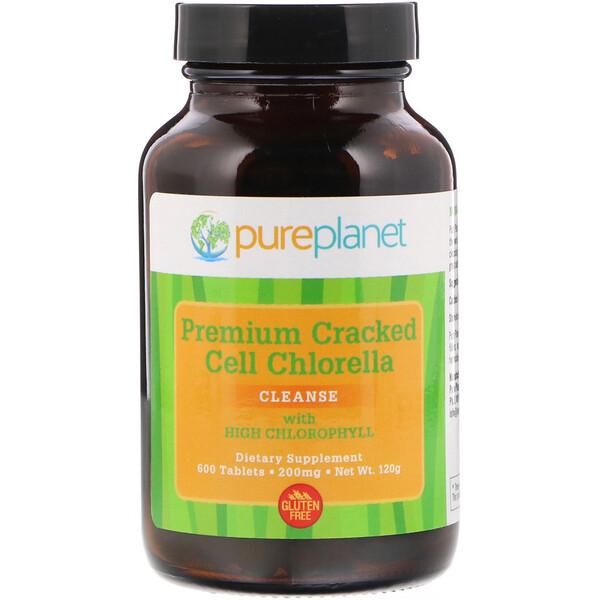 Высококачественная хлорелла с измельченными клетками, 200 мг, 600 таблеток