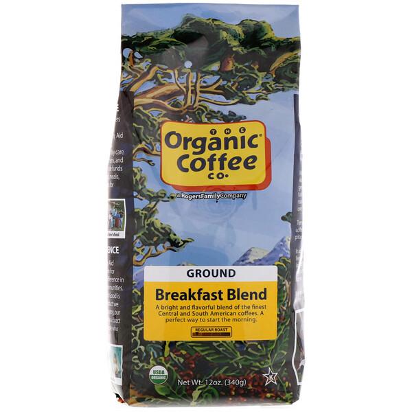 Organic Coffee Co., Смесь для завтрака, молотый кофе, 340г (12унций)