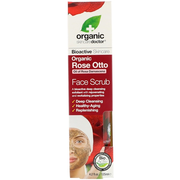 Organic Doctor, Органический скраб с болгарским розовым маслом , 4,2 ж. унц.(125 мл) (Discontinued Item)