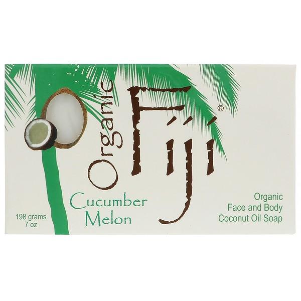 Organic Fiji, Лосьон для тела и лица с органическим кокосовым маслом, огурец и дыня, 7 унций (198 мл) (Discontinued Item)