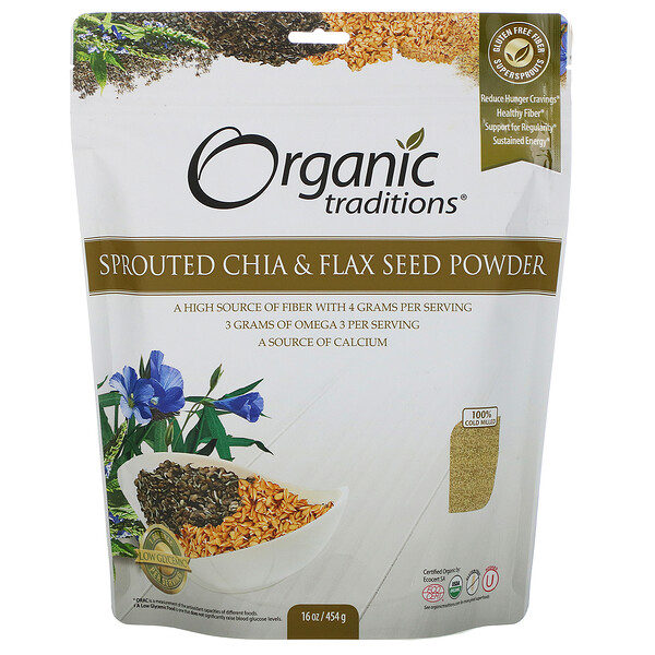 Sprouted Chia & Flax Seed Powder, 16 oz (454 g)