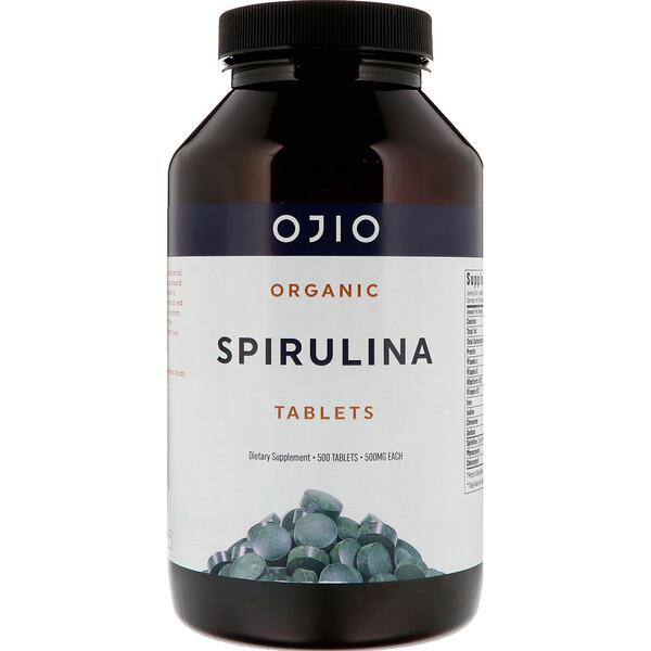 Спирулина органическая, 500 мг, 500 таблеток