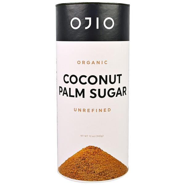 Ojio, Органический кокосовый сахар, неочищенный, 12 унций (340 г)