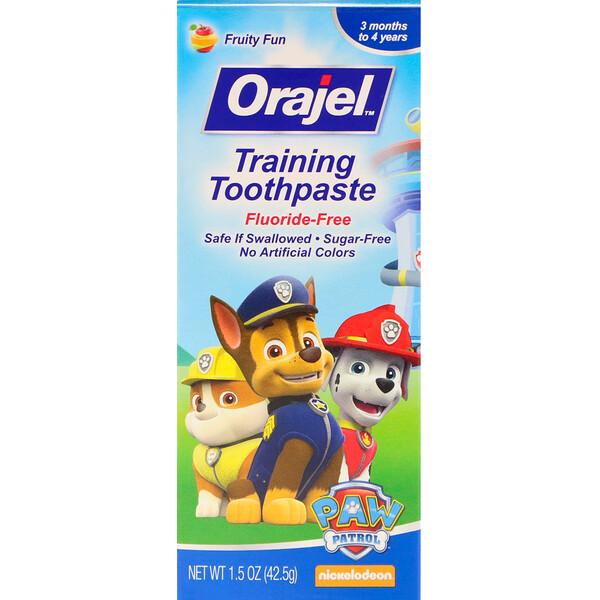 Paw Patrol Training, зубная паста, не содержит фториды, фруктовый вкус, 1,5 унц. (42,5 г)