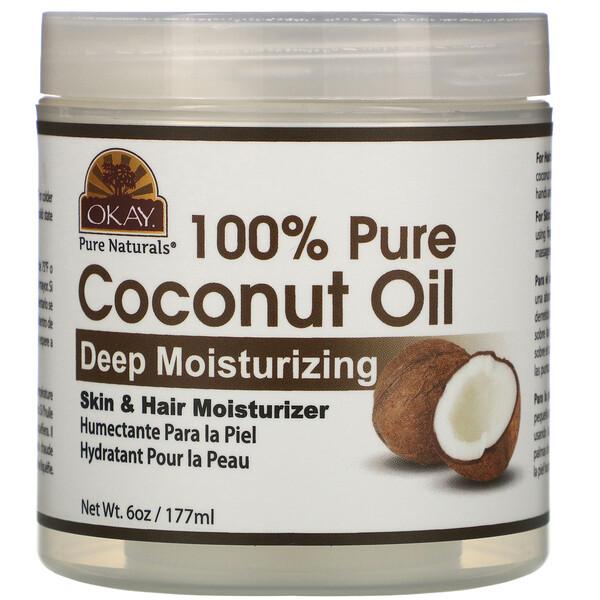 100% Pure Coconut Oil, Deep Moisturizing, 6 oz (177 ml)