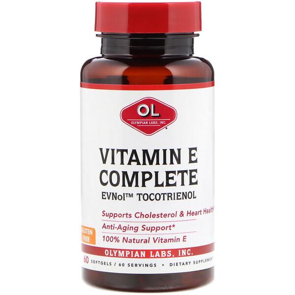 Olympian Labs, Комплекс с витамином Е, 60 мягких желатиновых капсул