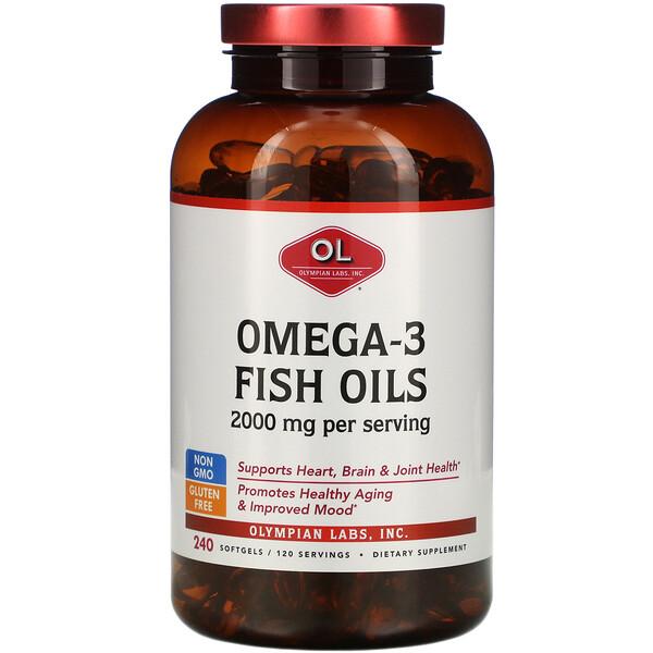 Омега-3 рыбий жир 2000 мг, 240 мягких капсул