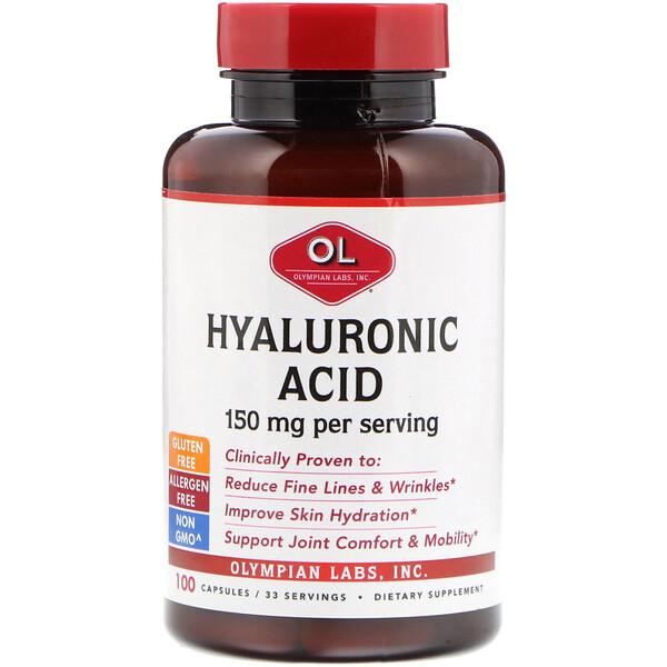 Гиалуроновая кислота, 150 мг, 100 капсул