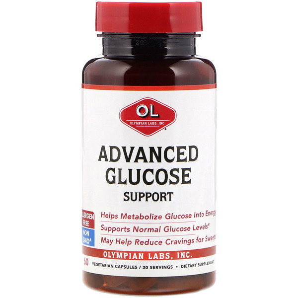 Olympian Labs, Advanced Glucose Support, 60 Vegetarian Capsules (Discontinued Item)