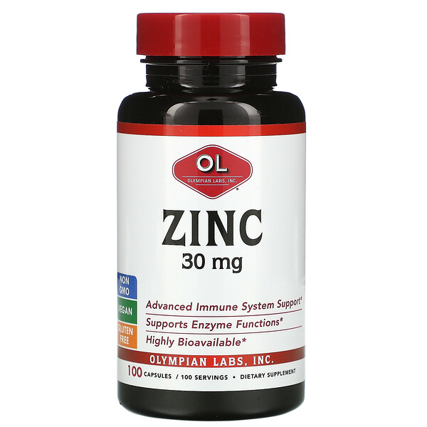 Zinc, 30 mg , 100 Capsules