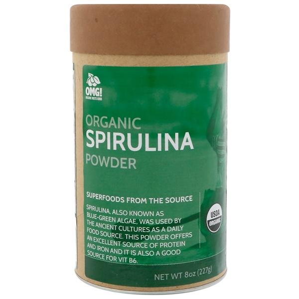 OMG! Organic Meets Good, Органический порошок спирулины, 8 унц. (227 г.) (Discontinued Item)
