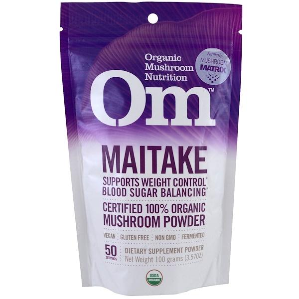 Organic Mushroom Nutrition, Грифола курчавая, грибной порошок, 3.57 унции (100 г) (Discontinued Item)