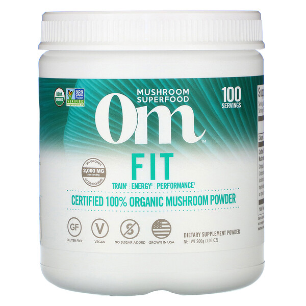 Fit, Certified 100% Organic Mushroom Powder, 7.05 oz (200 g)