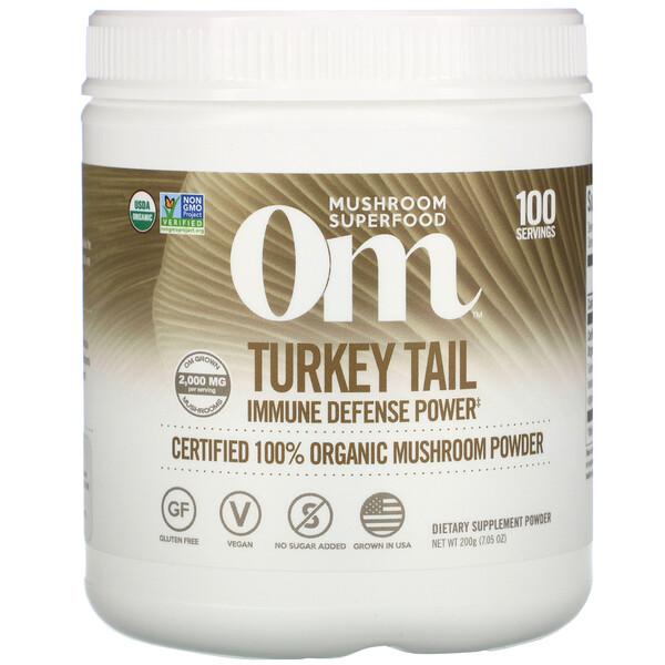 Turkey Tail, Certified 100% Organic Mushroom Powder, 7.05 oz (200 g)