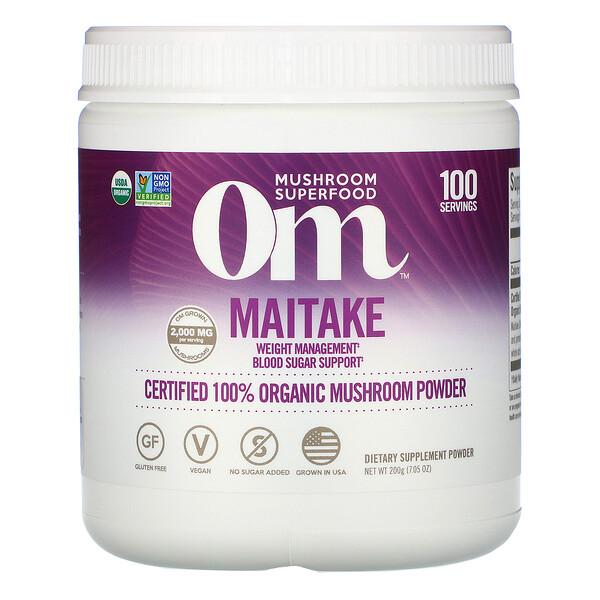 Maitake, Certified 100% Organic Mushroom Powder, 7.05 oz (200 g)