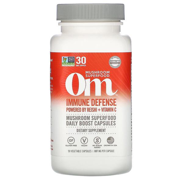 Immune Defense, Powered by Reishi + Vitamin C, 697 mg, 90 Vegetarian Capsules