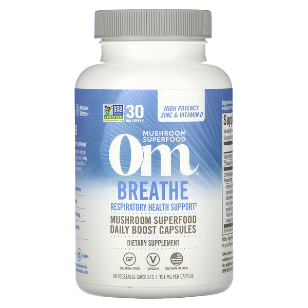 Breathe, Respiratory Health Support, 90 Vegetable Capsules