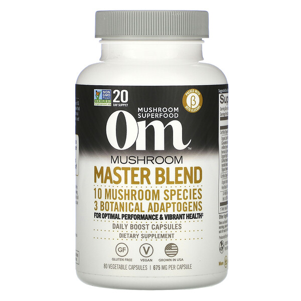 Mushroom Master Blend, 675 mg, 80 Vegetable Capsules